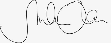 Kreativagentur München. Marlene Kern Design. Sie sehen die schwungvolle Unterschrift von Marlene Kern.