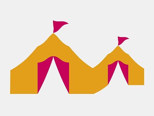Logo Gestaltung. Sehen Sie unsere Logo Gestaltung für das sommerliche Kulturfestival »FestIVal« der Stadt Unterschleißheim. Das ursprüngliche Konzept dieses sommerlichen Kulturfestivals brachte Konzerte und Theateraufführungen auf die Bühne eines großen und eines kleinen Zeltes. Wir wurden für die Visualisierung dieses Kulturkonzeptes beauftragt. In erster Linie ging es darum, ein Logo zu designen. Wir entwarfen ein großes und ein kleines Zelt in hellem Orange. Die typischen Planen der Zelteingänge setzten wir in der Form und in der Farbe Pink um. Passend dazu bekamen beide Zelte eine pink-farbene Fahne »on top«. Dieses Logo wurde zum Keyvisual in der Gestaltung von Plakaten, Anzeigen und anderen Medien. Es kann so einfach sein! Gerne gestalten wir auch Ihr Logo. Unter Tel. +49 172 890 84 90 sind wir gerne für ein unverbindliches Beratungsgespräch für Sie da.