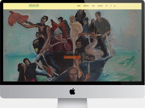 Websites für Künstler. Sie sehen unsere Gestaltung für eine Künstler Website. Das Internet gibt heute Kreativen unterschiedlicher Kunst-Genres den Schlüssel für die Kommunikation von Persönlichkeit und Werken in die eigene Hand. Wir gestalten responsive Websites für Künstler mit allen wichtigen Funktionen für die Präsentation von Künstlerpersönlichkeit und Projekten. Wie beim hier vorgestellten Beispiel »Männerbilder«, zu sehen, empfehlen wir als Basisversion eine Startseite, auf der aktuelle Themen und Werke kommuniziert werden sowie eine Portfolioseite, auf der Sie Ihr künstlerisches Werk ausführlich präsentieren können. Ein Blog ermöglicht es, Gedanken zu vermitteln oder auch über bevorstehende Ausstellungseröffnungen zu informieren. Auf Wunsch legen wir Ihre Künstler Website mehrsprachig an. Aus eigener Erfahrung beraten wir in den einzelnen Schritten Ihres Selbst-Marketings und in allen Fragen des Rankings wie z. B. der Suchmaschinen-Optimierung. Gerne gestalten und entwickeln wir auch Ihre Website und bringen Ihre Kunstwerke ins Digitale! Für ein unverbindliches Beratungsgespräch sind wir unter Tel. +49 172 890 84 90 gerne für Sie da.