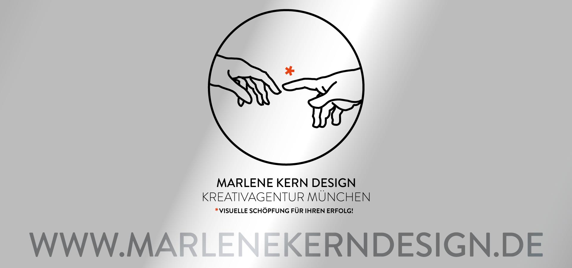 Marlene Kern Design auf neuer Internetadresse: www.marlenekerndesign.de. Sie sehen das Logo von Marlene Kern Design zusammen mit der neuen Internetadresse www.marlenekerndesign.de