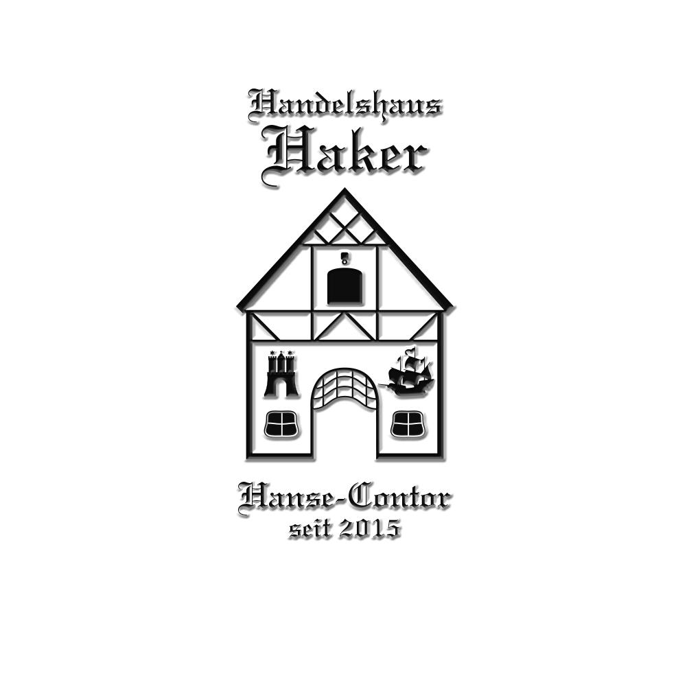 Logodesign-Handelshaus – für das Handeshaus Sven & Simona Haker GBR. Sie sehen ein Logo für ein Handelshaus, das in der Ästhetik die Wertigkeit eines gewachsenen Unternehmens vermitteln möchte.