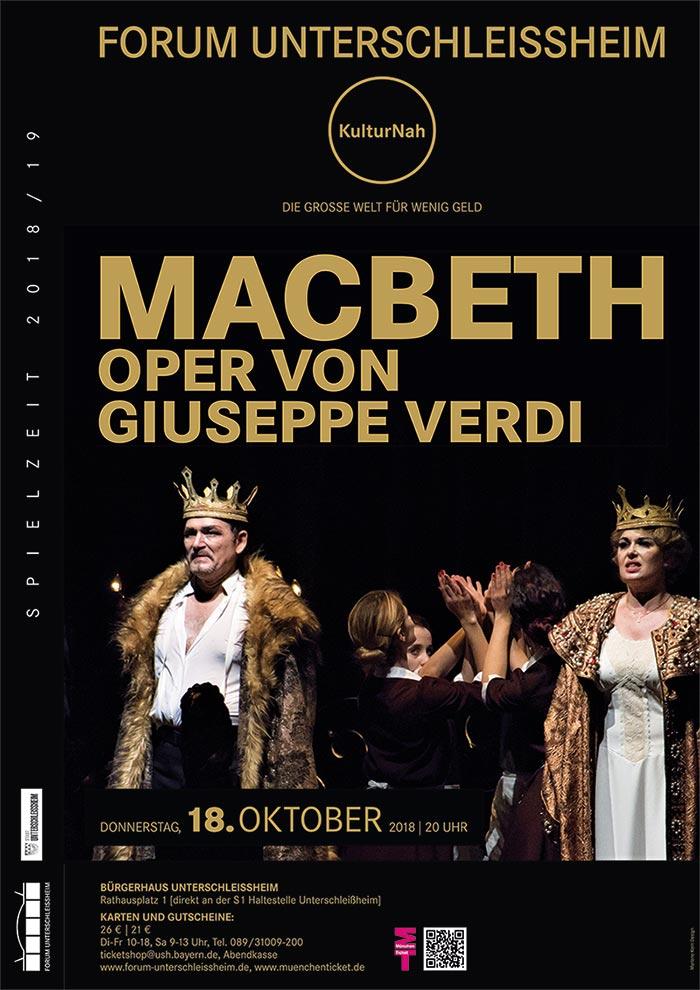 Spielzeitdesign Plakatdesign. Sie sehen Plakatgestaltung Macbeth, Oper von Giuseppe Verdi