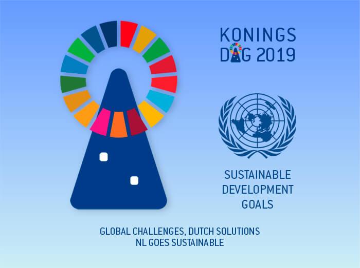 Logo Design – Sie sehen ein Logo, für das ich vom Niederländischen Generalkonsulat in München beauftragt wurde. Es verbindet das Engagement des Konsulates mit den Nachhaltigkeitszielen der United Nations.