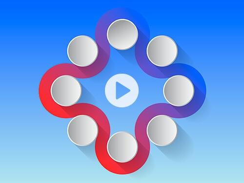 Video Tutorial erstellen – Sie sehen ein Erklärvideo, das die Entstehung einer Infografik im Programm Captivate zeigt.