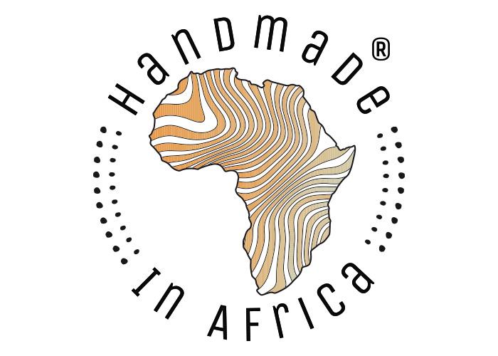Markenauftritt Shop – Sie sehen das Markenlogo für das Online Unternehmen »Handmade in Africa«. Wir gestalteten dafür das Erscheinungsbild. Hier sehen Sie das Markenlogo.