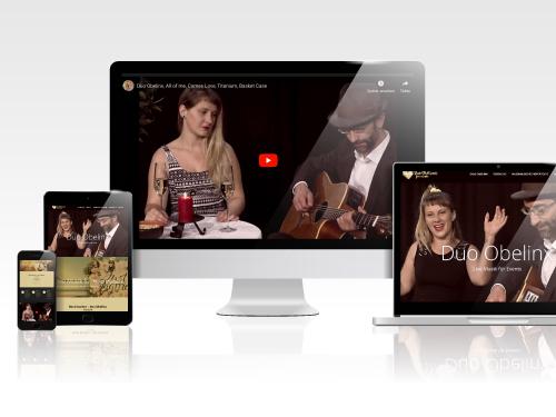 Responsives Webdesign für das Duo Obelinx – Marlene Kern Design konzipierte & realisierte den Markenauftritt dieser Schweizer Band.
