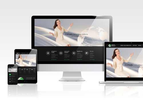Web Design – Marken & Web Agentur München. Marlene Kern Design erstellt Website und Markenauftritt für das Internationale Beratungsunternehmen Kristina Fremuth Consulting.