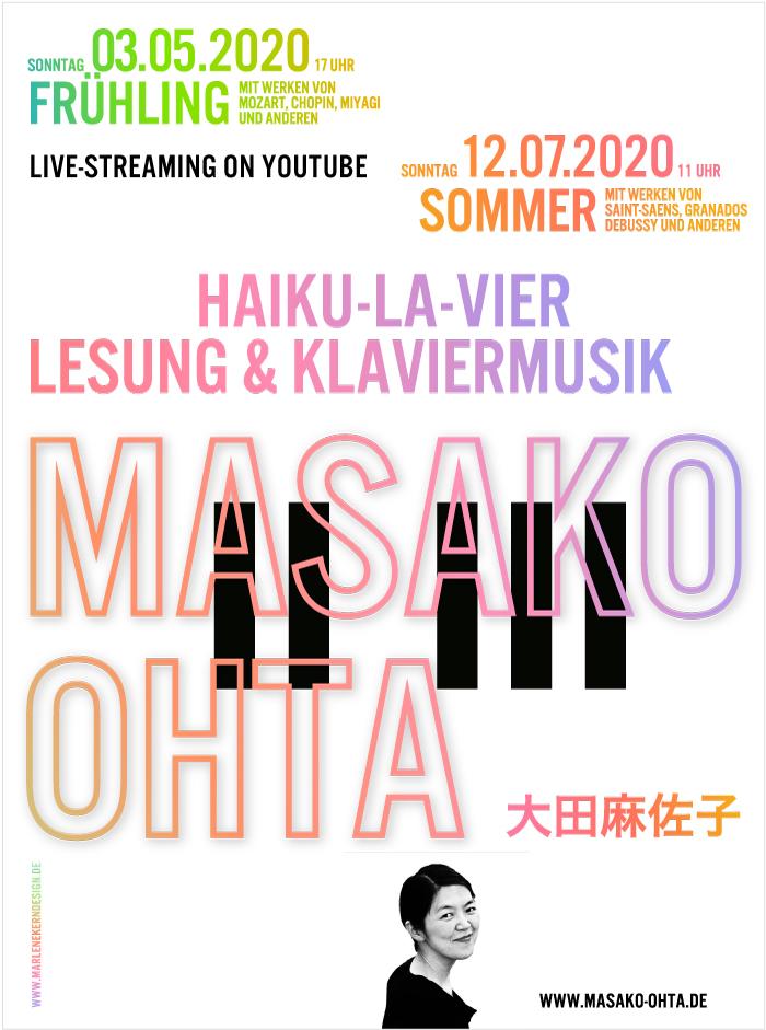 Livestream – Masako Ohta spielt im Livestream