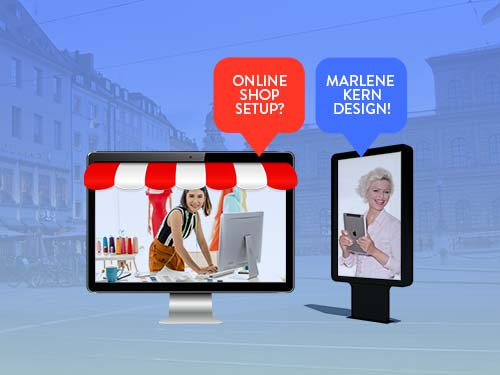 Create Online Shop - Brands & Web Agency Munich creates your Online Shop. Marlene Kern Design offers you sustainable quality & professional process.