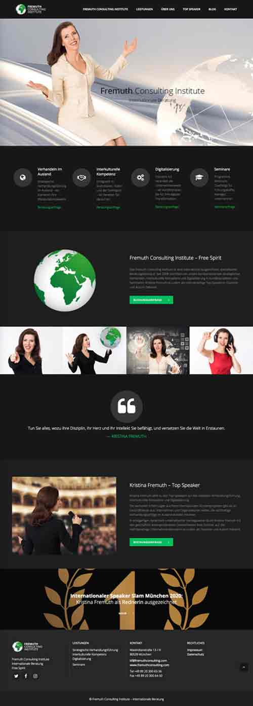 Web Agency - Website Design - Brands & Web Agency Munich creates the brand of Fremuth Consulting Institute