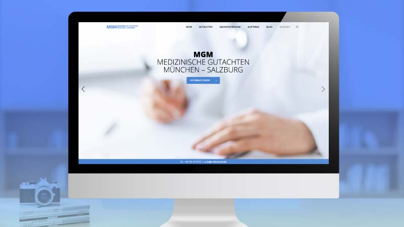 Webdesign – Marken & Web Agentur München bietet Ihnen responsives Webdesign mit WordPress. Komplettpakete aus einer Hand für Ärzte, Kliniken & Medizinische Gutachter.