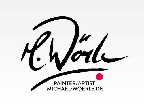 Logos - As an Advertising Agency in Munich, we create your brand logo. Here is a logo that we created for Michael Wörle. An academic painter who donated one of his wonderful oil paintings to the Charity Gala Royale Night. On the occasion of this event, which is organized annually by the Baron von Reckenthal, the need for a logo for the sponsor wall arose.