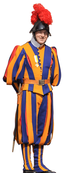 Swiss Guard - Brand design at its best. We use this prime example as a guide in many respects when we design your successful brand. Individual, heavenly beautiful & omnipresent. Your brand for the ages.